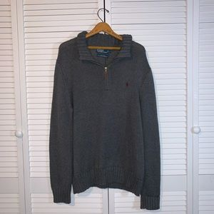 Polo by Ralph Lauren pull over gray knit sweater